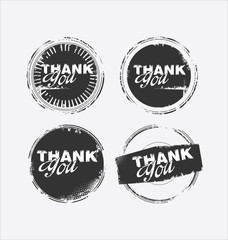 grunge rubber stamp with the text thank you