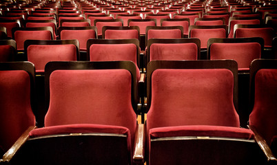 Red Velvet Theater Seating in Montevideo, Uruguay