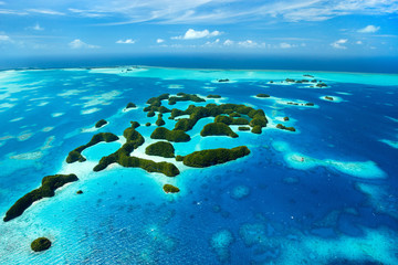 Fototapete - Palau islands from above