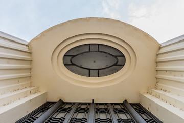 Détail de l'hôtel de Ville du quartier des Gratte-ciel à Villeurbanne