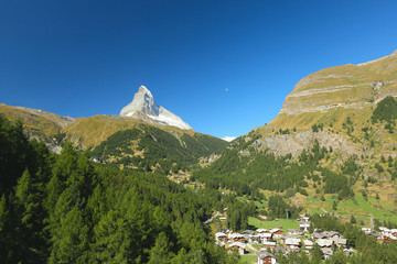 View of the Zermatt and the Matterhorn, Valais, Switzerland