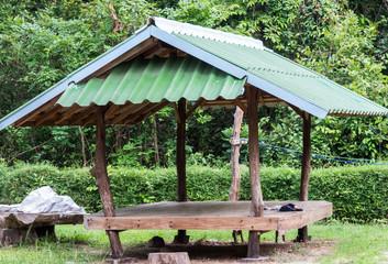 Woden hut