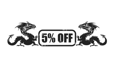 5% off dragon icon