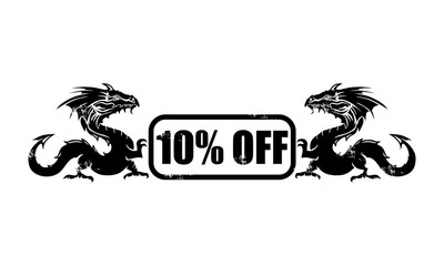 10% off dragon icon
