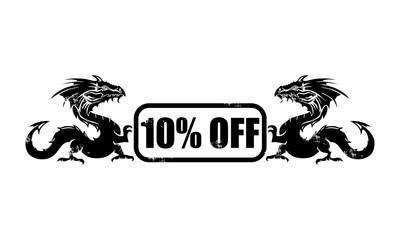 10% off dragon icon