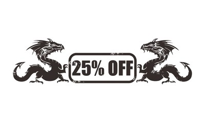 25% off dragon icon