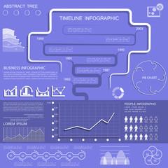 Transparent infographic set, elements for business data visualiz
