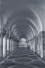 Fototapete - Classical corridor of Doge's Palace, Saint Marks Square, Venice, Italy
