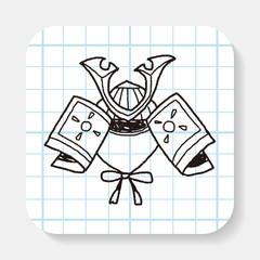samurai helmet doodle