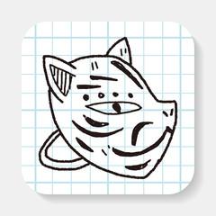 fox mask doodle