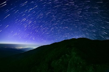 Startrails of travel place in Thailand