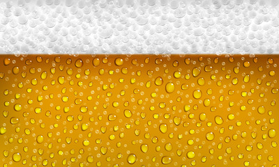 Background of beer with foam