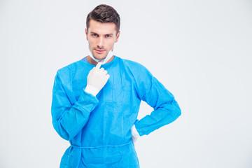 Portrait of a male surgeon