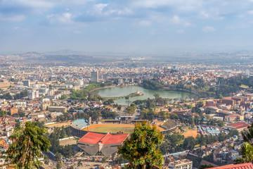 View from Rova palace at the Anosy lake