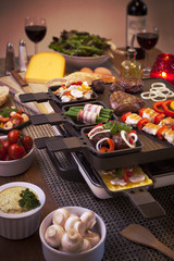 Raclette table-top grill or the Dutch variant 'gourmetten'