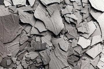 Crack soil on dry section