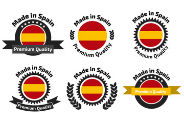 Made in Spain badge set
