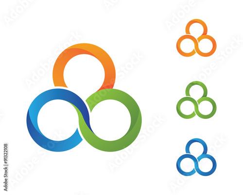 3 Circle Logo Template Fichier Vectoriel Libre De Droits Sur La
