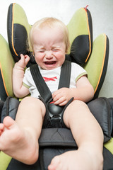 crying baby in the car seat