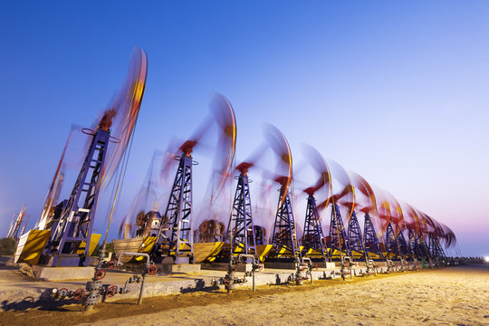 oil pumps working at oilfiled