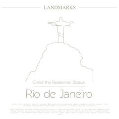 World landmarks. Rio de Janeiro. Brazil. Christ the Redeemer Sta