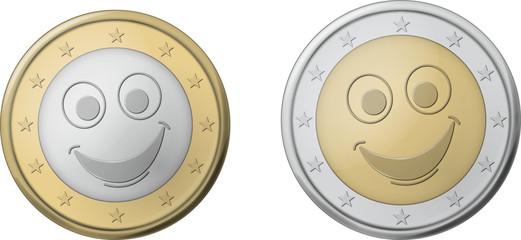 Pièce euro sourit