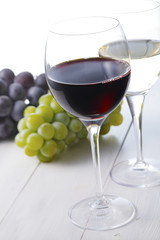 ワインイメージ Red wine and White wine image