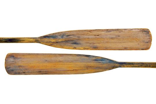 old wooden grunge paddles