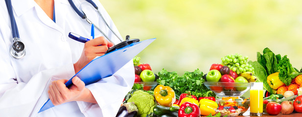 Fototapete - Diet and health care.