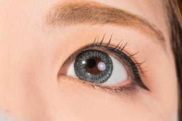 つけまつげのアジア人女性 Asian of the eyelashes of the woman