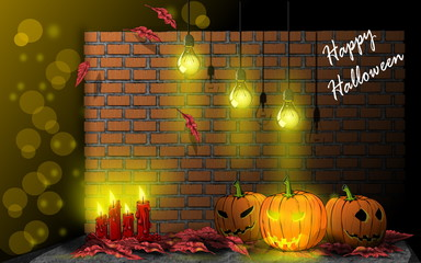 Pumpkin Background, for Happy Halloween