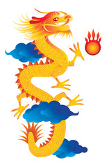 Chinese New Year Dragon Vector Illustration