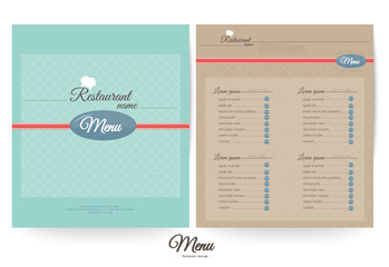 Restaurant menu design,Pastel (color)