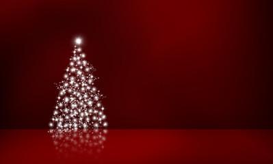 Lichterbaum vor Rot