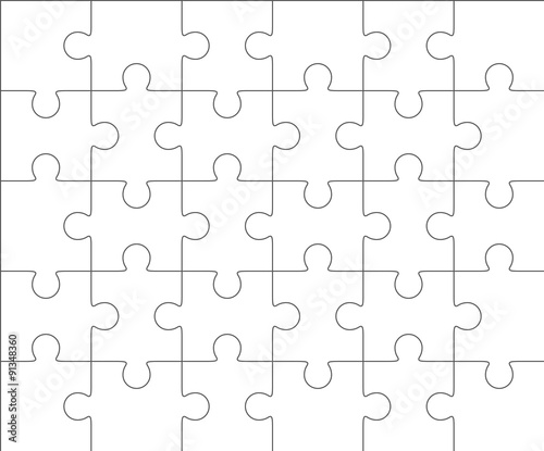 Jigsaw Puzzle Blank Templates  Pieces Stock Image And Royalty