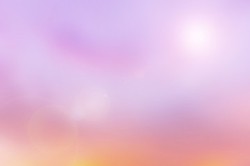 Abstract Blurred Beautiful landscape Sky, Nature, sea and clound