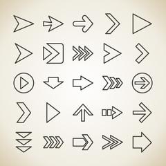 Arrow outline