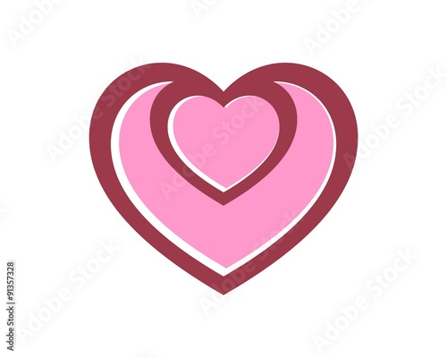 heart flower logo template v 4 stock image and royalty free vector
