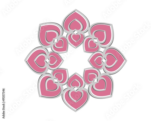 heart flower logo template v 2 stock image and royalty free vector