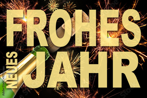 Frohes neues Jahr, Happy New Year, Karte, Silvester, Sylvester ...
