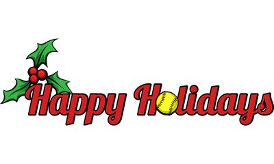 Softball Happy Holidays