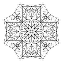 Coloring book with mandala