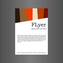 Flyer in autumn colors. Template design.
