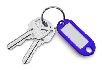 Keys and Blue Key Chain