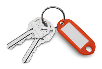 Keys and Red Key Chain