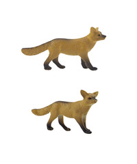 Isolated fox toy. Isolated fox toy side and angle view.