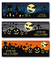 french halloween banner