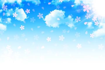 桜 空 年賀状