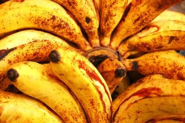 Ripe banana background photo
