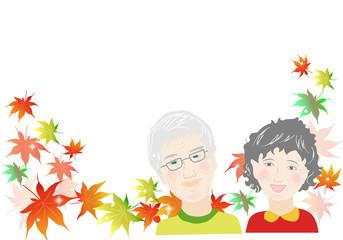 シニア、敬老の日、老人、老夫婦、二人、日本人、人物